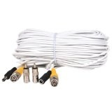 VideoSecu 66 Feet Video Power CCTV Security Camera Cable with BNC RCA Connector WE9 (Electronics)By VideoSecu