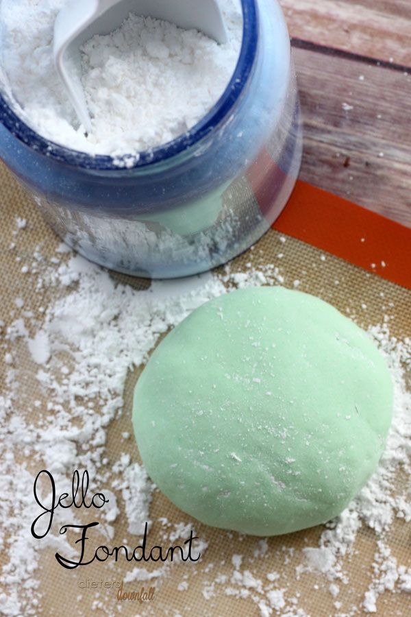 How to make your own delicious Jello Fondant. Have fun with flavors and colors for a great cake topping!