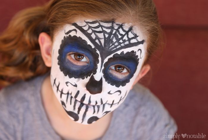 Sugar Skull Face Painting by Simplynotable.com