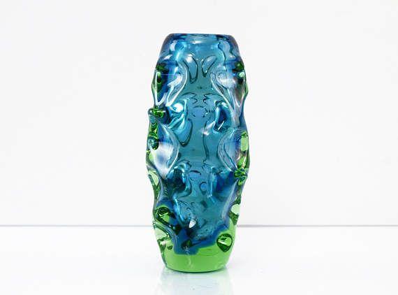 Vintage Bohemian Sommerso Glass Vase by Jan Beranek for