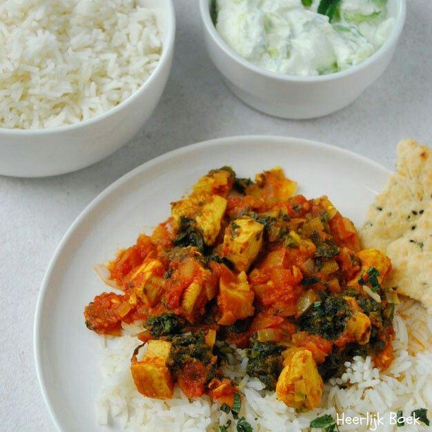 Kipcurry met spinazie uit Slimme eenpersoonsmaaltijden van Sam Stern