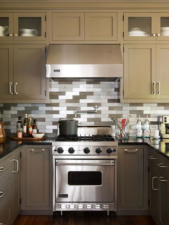 Inspirational Tile Accents for Kitchen Backsplash