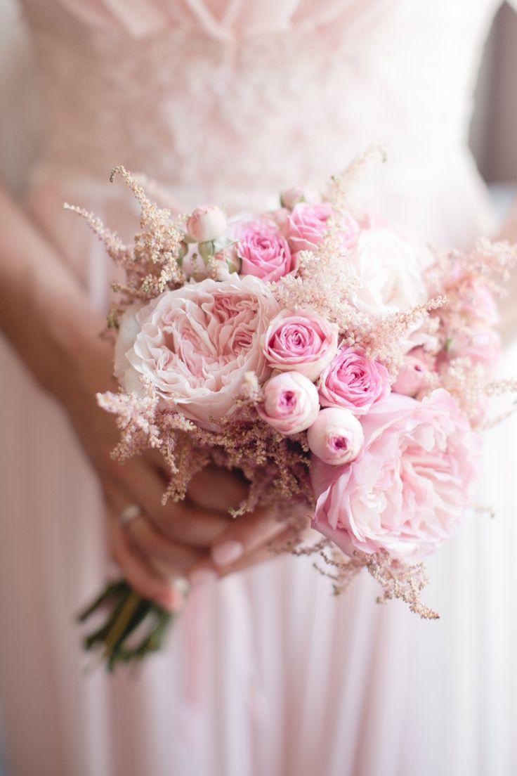 wedding bouquet  peony pink