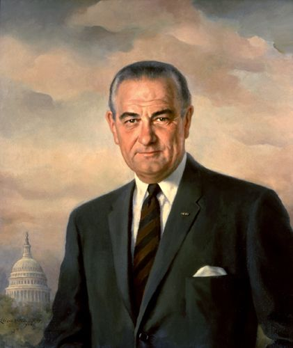 #36 Lyndon B. Johnson,(August 27, 1908 – January 22, 1973), served as vice-president during the Kennedy administration. When Kennedy was assassinated in Dallas, Texas, on November 22, 1963, Johnson assumed the presidency. He won re-election in 1964 with 61 percent of the vote and served until January 20, 1969.