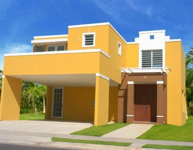 25 Fachadas De Casas Pintadas Exteriores De Casas Casas Pintadas Colores Para Casas Exteriores