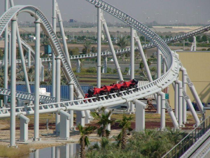 Formula Rossa roller coaster in Ferrari World!! The worlds fastest rollercoster!!!!!!!!!!!!!!