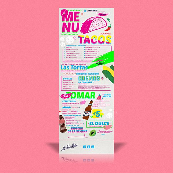 La Fábrica del Taco  by Bosque, via Behance