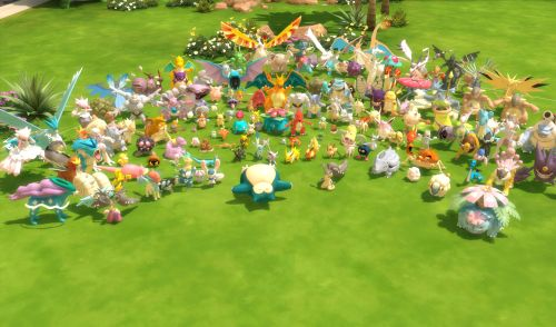 Sims 4 - First Pokemon Set is complete and available #clutter #geek