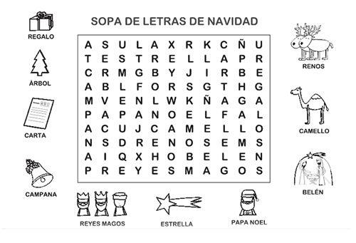 Sopa de letras Navidad | sopa de letras,crucigramas | Pinterest ...