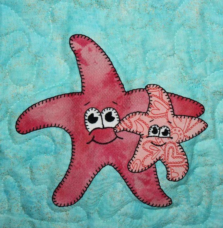 (7) Name: 'Quilting : Sea Star Applique Block