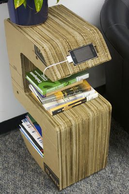 I love this side table, as it is made from recycled material, and has multiple uses. I like the look, and the simple design.
