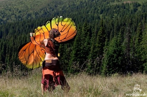 I think I might need a set of butterfly wing poiHooplovecircus Artsyoga