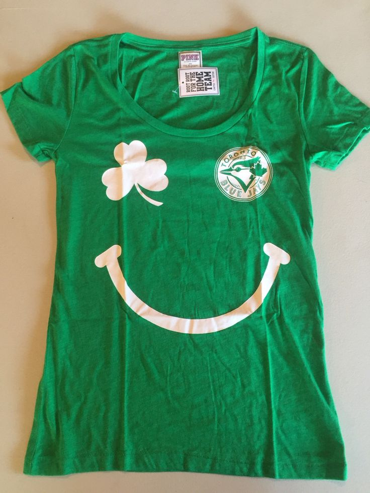 "MLB Toronto Blue Jays Women's Green St. Patrick's Day ""Good Luck Charm"" T-Shirt by Victoria's Secret www.mancavesonline.com"