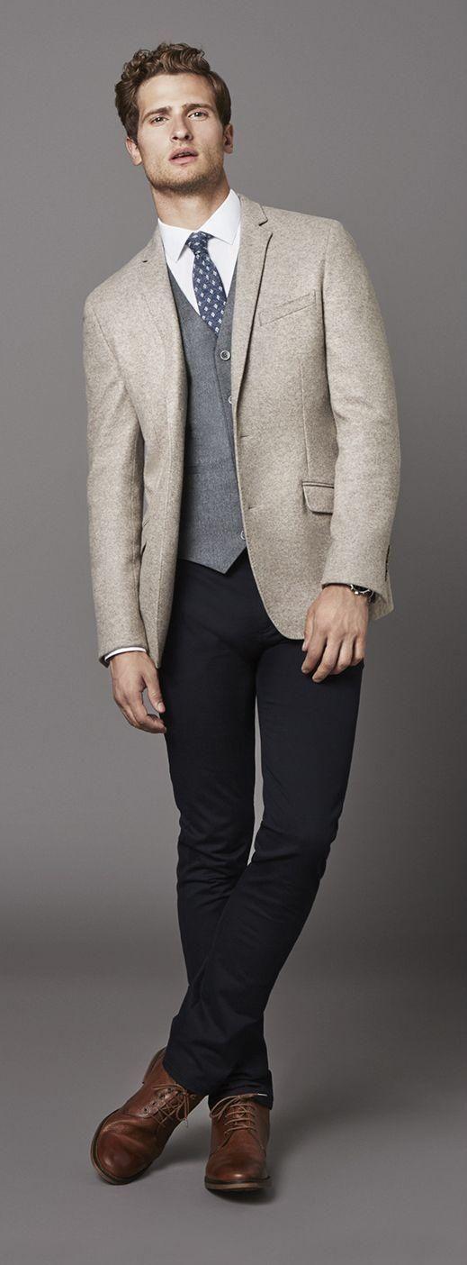 2018 Latest Coat Pant Designs Cream White Tweed Men Suit Slim Fit Tuxedo Custom Winter Simple Male Blazer 3 Piece Terno Homme Q3