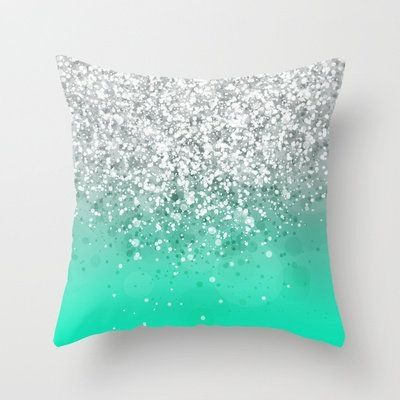 glitteresques xxxv throw pillow mint green bedroomscarnivalsmaster - Mint Green Bedroom Decorating Ideas