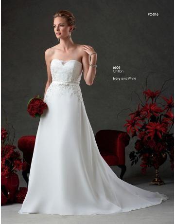 ročník šifon svatební svatební šaty