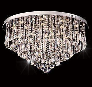 Dimmbar LED Kristall Kronleuchter Deckenlampe Deckenleuchte Hngeleuchte In Mbel Wohnen Beleuchtung Deckenlampen