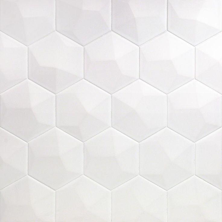 Ivy Hill Tile Bethlehem 3d Hexagon White 5 9 In X 6 96 In