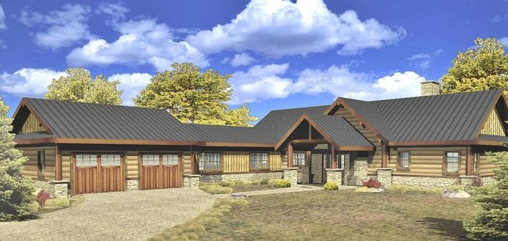 12 best timber frame images on pinterest timber frame for Timber frame ranch home plans