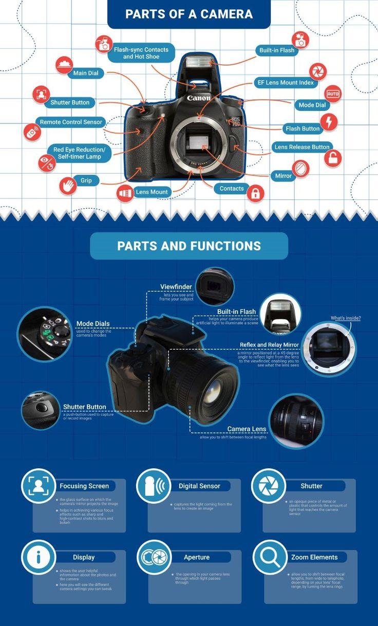 Adorama Parts Of The Camera Infographic Camera Photography Technology Best Dslr Dslr Camera Camera