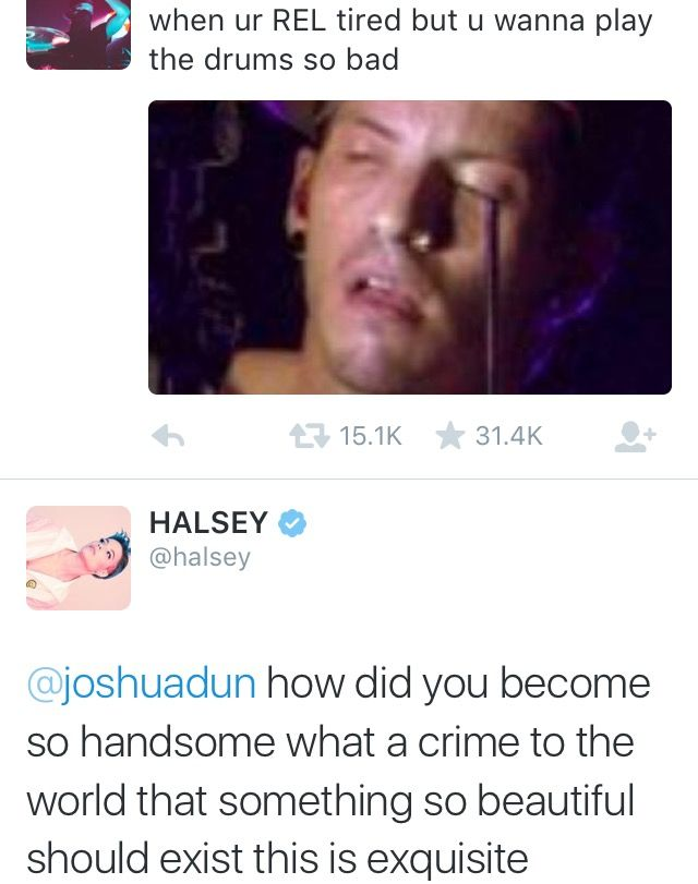 Pso halseyxjosh is a thing. :'( sigh, even though josh is mine, I still ship #jebby why does josh date all those famous people?