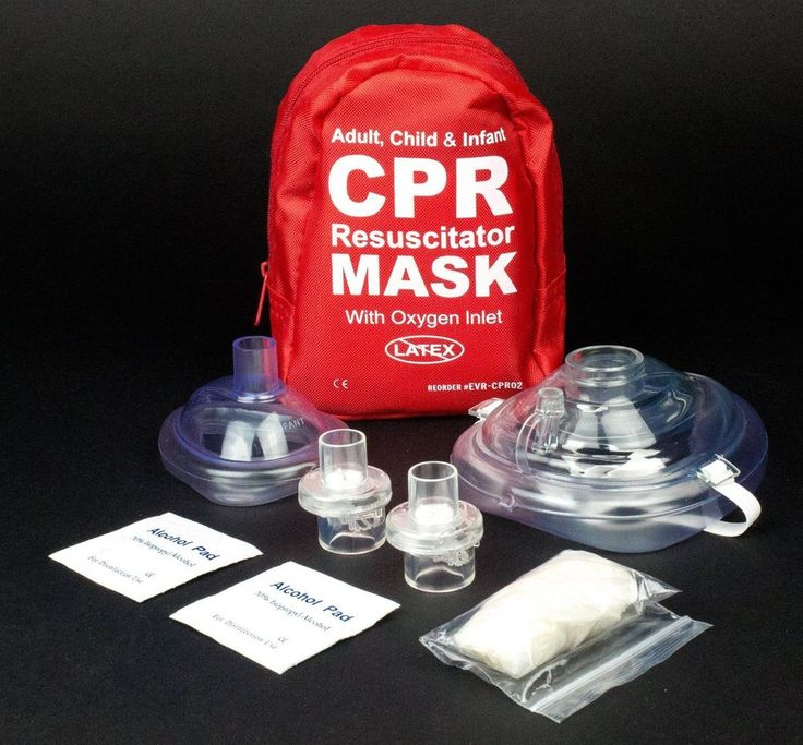 Ever Ready First Aid Adult and Infant CPR Mask Combo Kit with 2 Valves 1 Count #EverReadyFirstAid