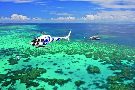 Great Barrier Reef looks awesome from a helicoptor (GBR Helicoptors - Private Tours)