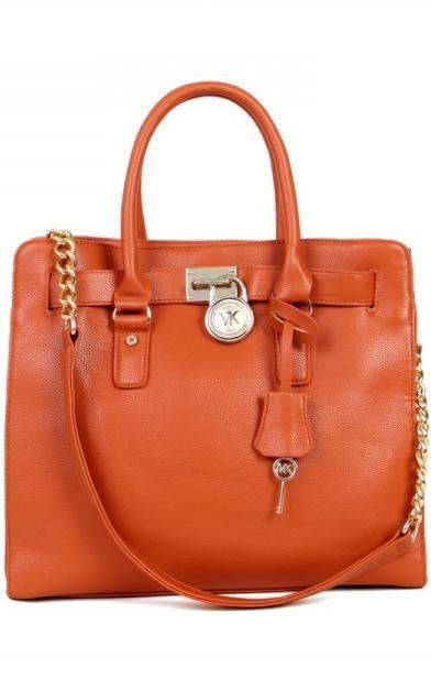 Michael Kors Large Hamilton Orange Tote Bag