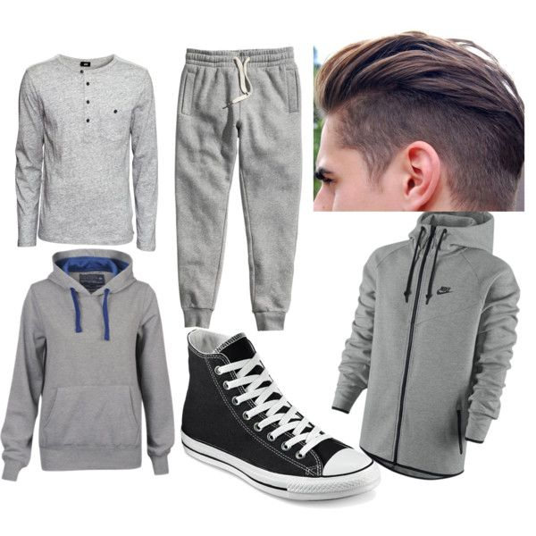 Untitled #21 by radharamsay-rr on Polyvore featuring polyvore fashion style 55Soul H&M Converse NIKE