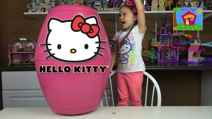 HELLO KITTY SURPRISE TOYS Worlds Biggest Surprise Egg Chocolate HK Surpr...- Published on Aug 20, 2015 WORLDS BIGGEST HELLO KITTY SURPRISE EGG + Kinder Chocolate HK Surprise Eggs + ハローキティ HK Surprise Toys like Hello Kitty Airplane & New Hello Kitty School Bus & Hello Kitty Keyboard Piano Kids Toy Opening Kid-Friendly Toy Review & Unboxing by Hailey's Magical Playhouse.