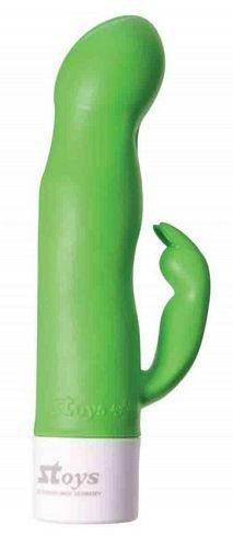 Stoys Softline Stella vibrator - Grøn fra Stoys - Sexlegetøj leveret for blot 29 kr. - 4ushop.dk - Lækker vibrator i Stoys nye Softline serie med en ekstra blød overflade - med en fræk lille klitoris stimulator. Vibratoren har hele 12 vibrationsniveauer.