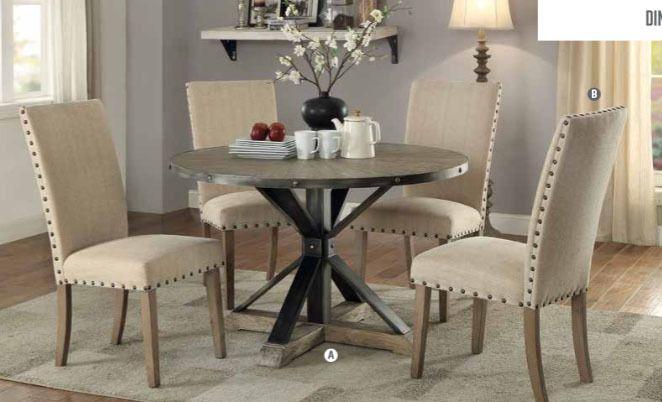 OCFurniture - Coaster Furniture 107100 Round Table in Driftwood Grey, $395.00 (https://www.ocfurniture.com/coaster-furniture-107100-round-table-in-driftwood-grey/)