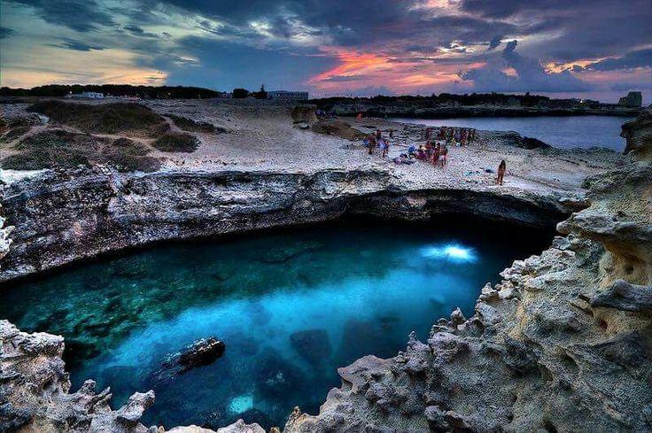 La grotta della poesia, tra le 10 piscine naturali più belle del mondo...#villapatriziasalento