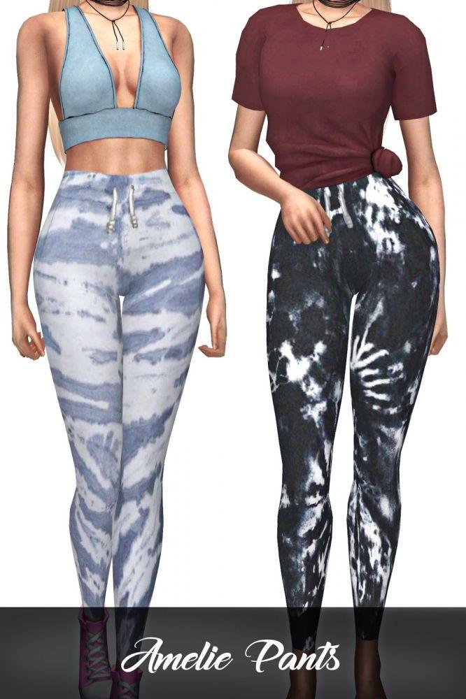 Amelie Pants at Kenzar Sims • Sims 4 Updates