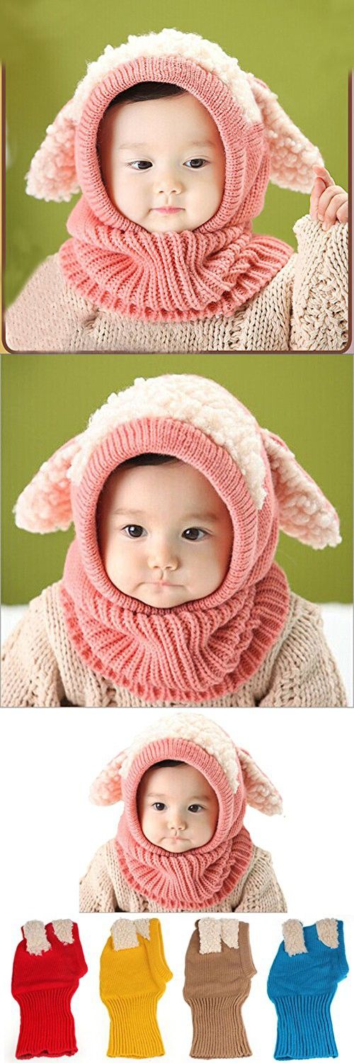 TAORE Baby Girls Boys Winter Hat Scarf Earflap Hood Scarves Skull Caps (Pink)
