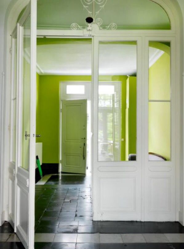 """This fresh and spacious entrance is from our feature """"A Flemish Affair"""""""