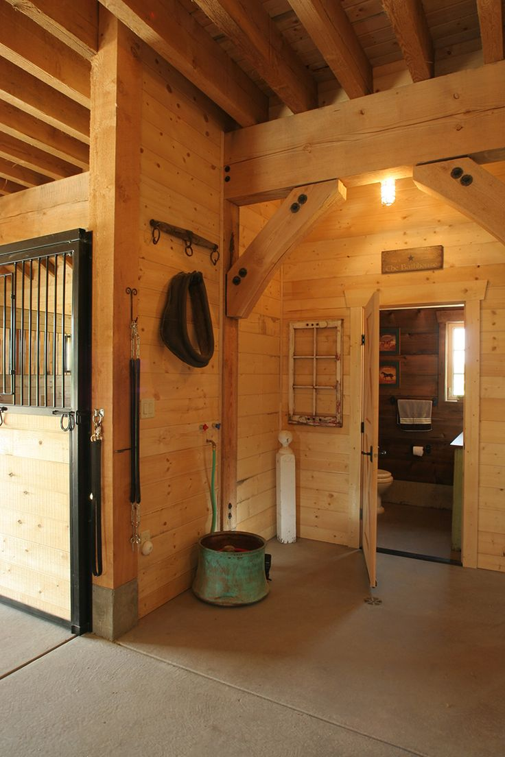 A Rustic 4Stall Barn in Canada with a Reclaimed Wood