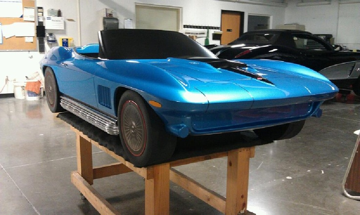 Prototype Corvette Stingray by Classic Reflections Coachworks. Material is Precision Board Plus. Full story at: http://precisionboard.com/product_users_tooling/corvette-stingray-prototype/