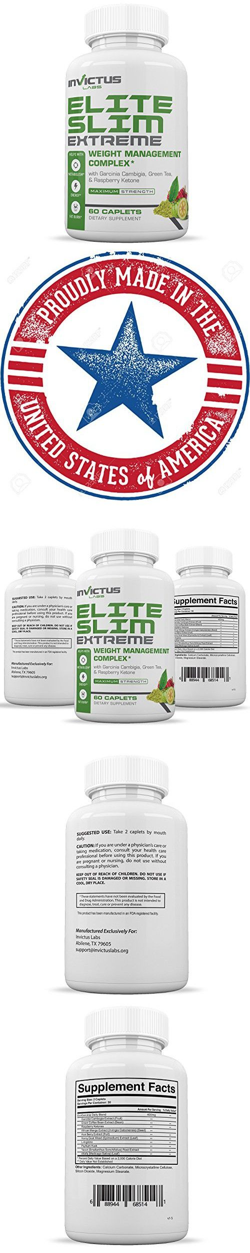 Elite Slim EXTREME-Extreme Weight Loss Pills That Work with Garcinia Cambogia|Green Coffee Bean|Raspberry Ketone|Acai Berry|Yacon Extract|Green Tea Extract|Appetite Suppressant & Diet Pill 60 Caps