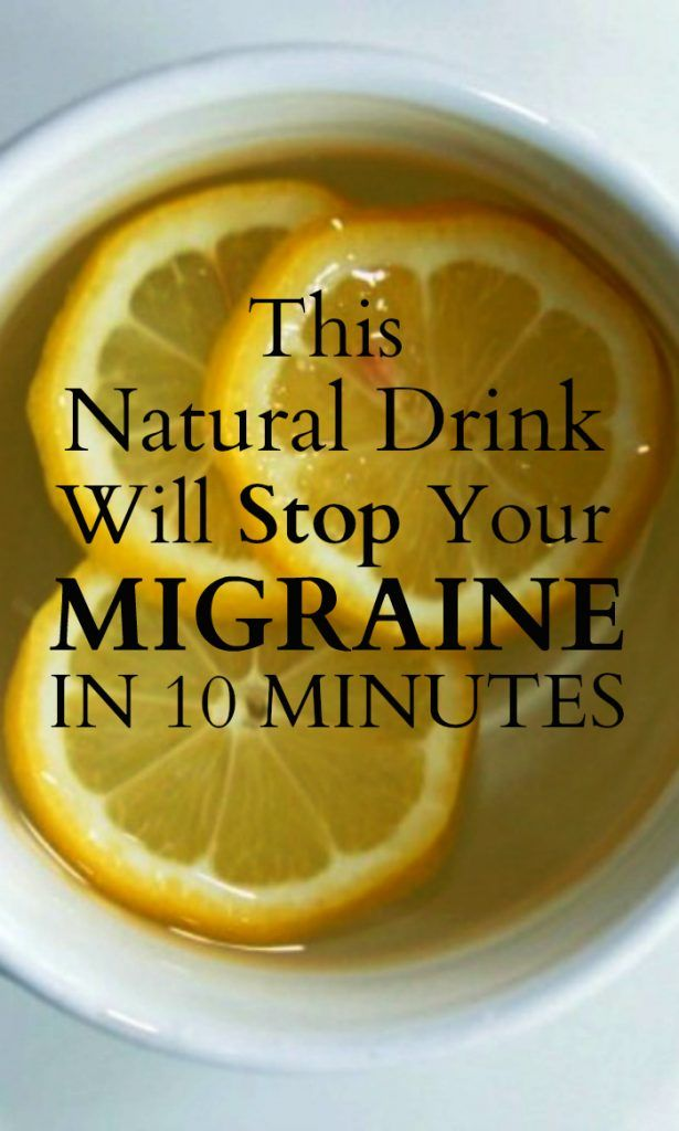 This Natural Drink Will Stop Your Migraine In 10 Minutes. I will have to try this...