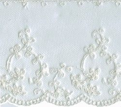 3'' Netting Lace - White
