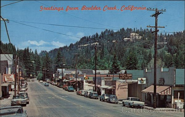 downtown street scene santa cruz boulder creek bouldering california dreamin