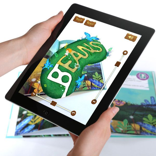 """""""Jack and the Beanstalk"""" is a 3D interactive storybook that uses an augmented reality app to bring pictures to life with a smartphone or tablet."""