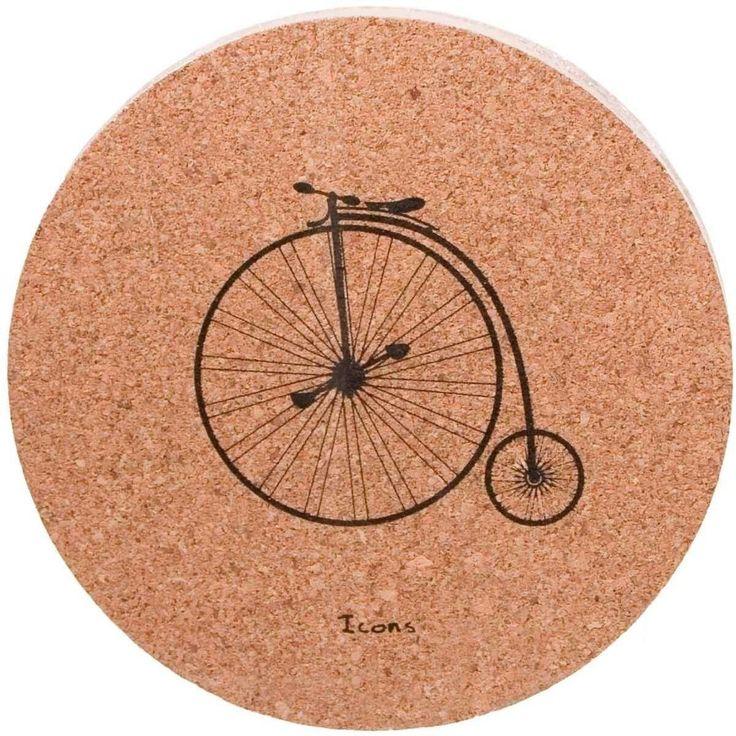 Cork Coasters Set Icons - Bicycle