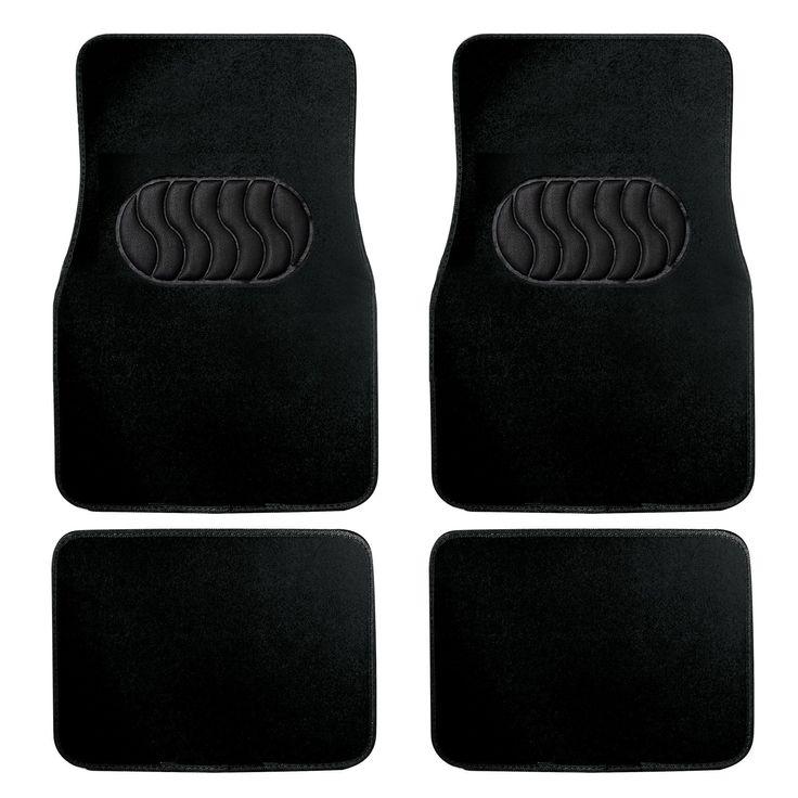 Car Floor Mats, Heavy Duty Rubber Floor Mats, 4 Pieces Universal Luxury Carpet