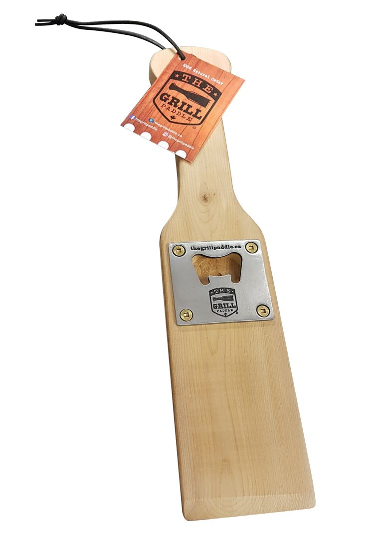 Can your BBQ paddle clean and open your beer at the same time? Ours can! The Grill Paddle 2.0