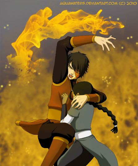 Avatar - Protector by *AquaWaters on deviantART. I don't ship Zutara but this is cute...