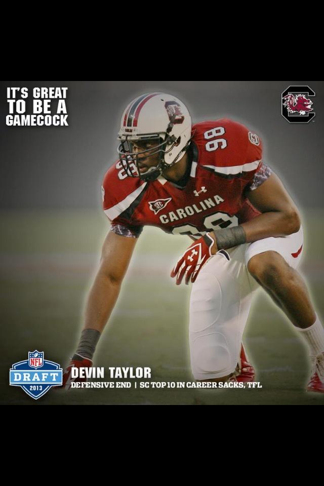 Devin Taylor to the Detroit Lions