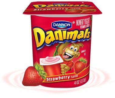 Danone Danimals Strawberry Kid Yogurt