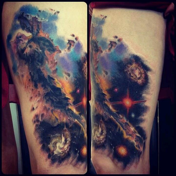 Galaxy tattoo. Eagle Nebula. | Stuff for Troy | Pinterest
